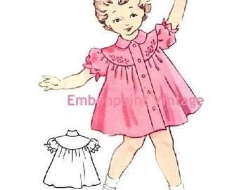 Plus Size (or any size) Vintage 1950s Dress Pattern - PDF - Pattern No 154 Geraldine