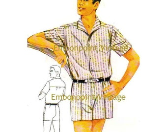 Plus Size (or any size) Vintage 1969 Shorts Pattern - PDF - Pattern No 125 Curtis Shorts