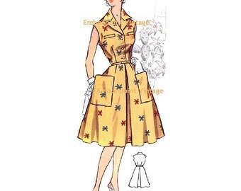 Plus Size (or any size) Vintage 1950s Dress Pattern - PDF - Pattern No 25: Janice