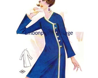 Plus Size (or any size) Vintage 1969 Dress Pattern - PDF - Pattern No 166 Kendra