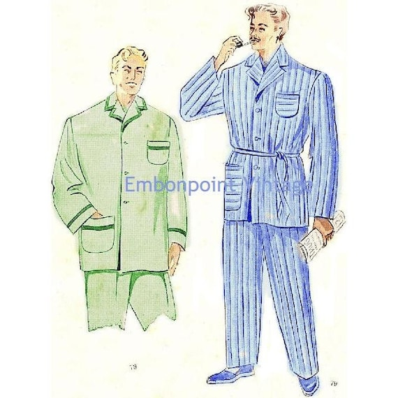 Plus Size (or any size) Vintage 1949 Pyjamas Pattern - PDF - Pattern No 78 79 Jerry
