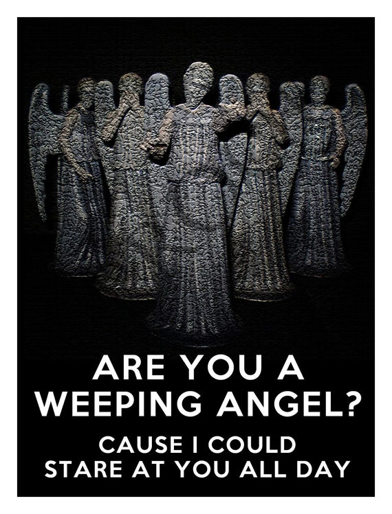 Doctor Who Weeping Angel Valentine's Day Custom Wine or Spirits Label or Digital File