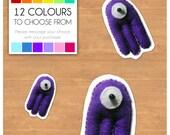 "Mini Felt Monster Plush Toy by BABUA - ""Fred"" - 12 Colors"