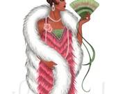 Fur - Fashion Illustration Art Print, 8.5 x 11