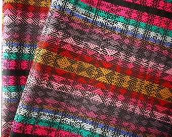 Aztec Fabric, Peruvian Fabric, Woven, Tribal Zig Zag Stripes, 2 Yards