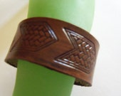 Arrow Stamped Leather Cuff Bracelet