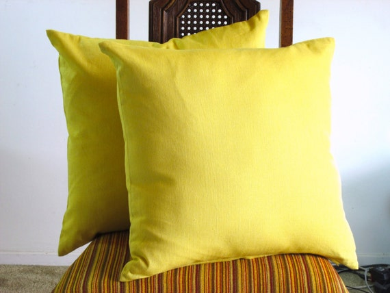 Pale Yellow Throw Pillow Cover : YELLOW PILLOW Mustard Yellow pillow cover 20 X by VFIllustration