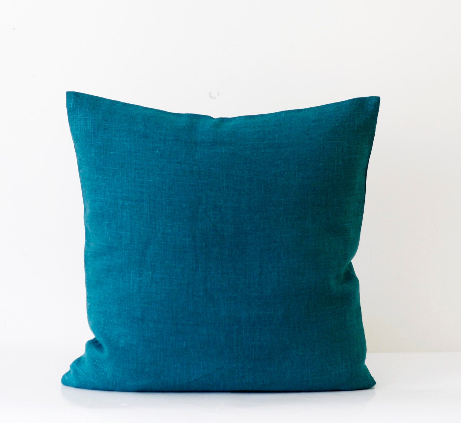 Teal Blue Throw Pillow : Teal blue pillow cover classic style decorative by pillowlink