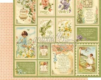 "Graphic 45 ""Secret Garden - Springtime""12x12 Double-sided Paper"