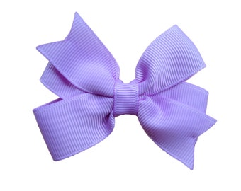 3 inch purple hair bow - light purple bow, 3 inch bows, purple hair bows, girls hair bows, pinwheel bows, girls bows, toddler bows