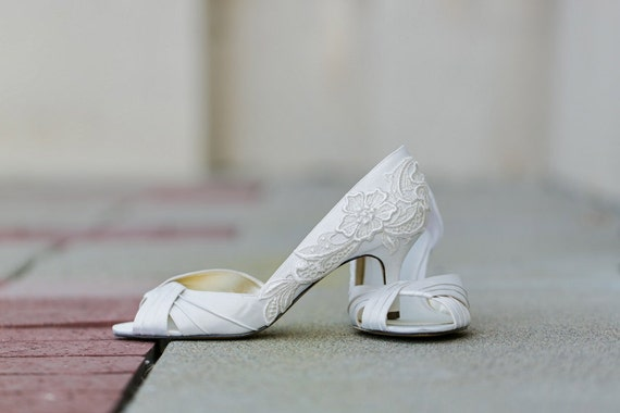 Ivory Heels with Ivory Lace