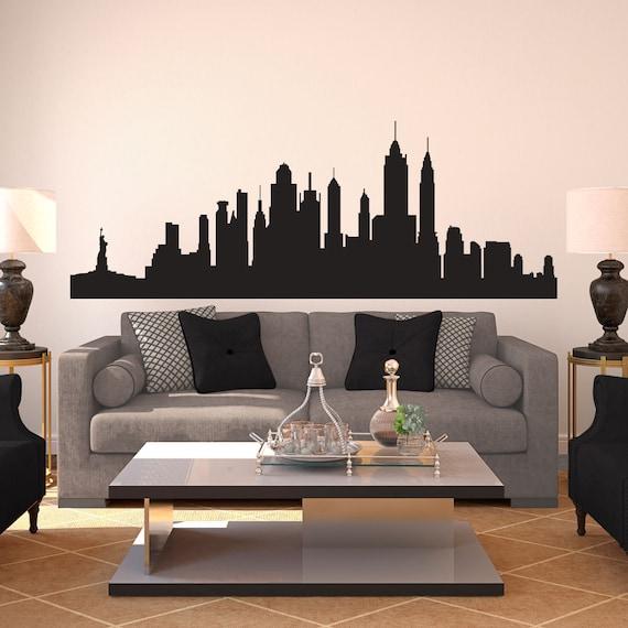 New York City Skyline Silhouette Wall Decal Custom Vinyl