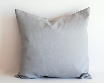 Gray throw pillow cover cushion cover storm gray solid