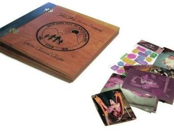 "Personalized Event Scrapbook Album - 12"" x 12"" Wooden - Logo Date Event"