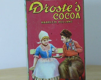 Vintage - Droste's Cocoa of Haarlem Holland Tin - 8 oz -  MG-219