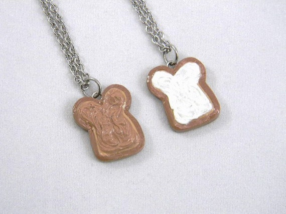 Peanut Butter and Marshmallow Fluff Friendship Necklaces