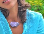 Purple Crazy Lace Agate Illusion Necklace