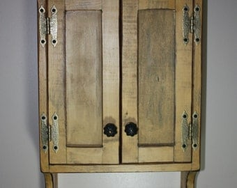 Cabinet  FREE SHIPPING, Wall, Medicine, Curio, Shabby, Cottage, Chic, Rustic, Primitive