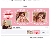 Valentine's Day Facebook Timeline Cover - FB147 - Instant Download