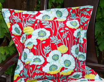 Pillow Cases 'Poppies' - SET OF TWO