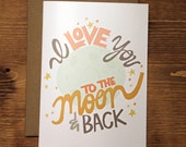 I Love You To The Moon & Back Set of 8 Cards
