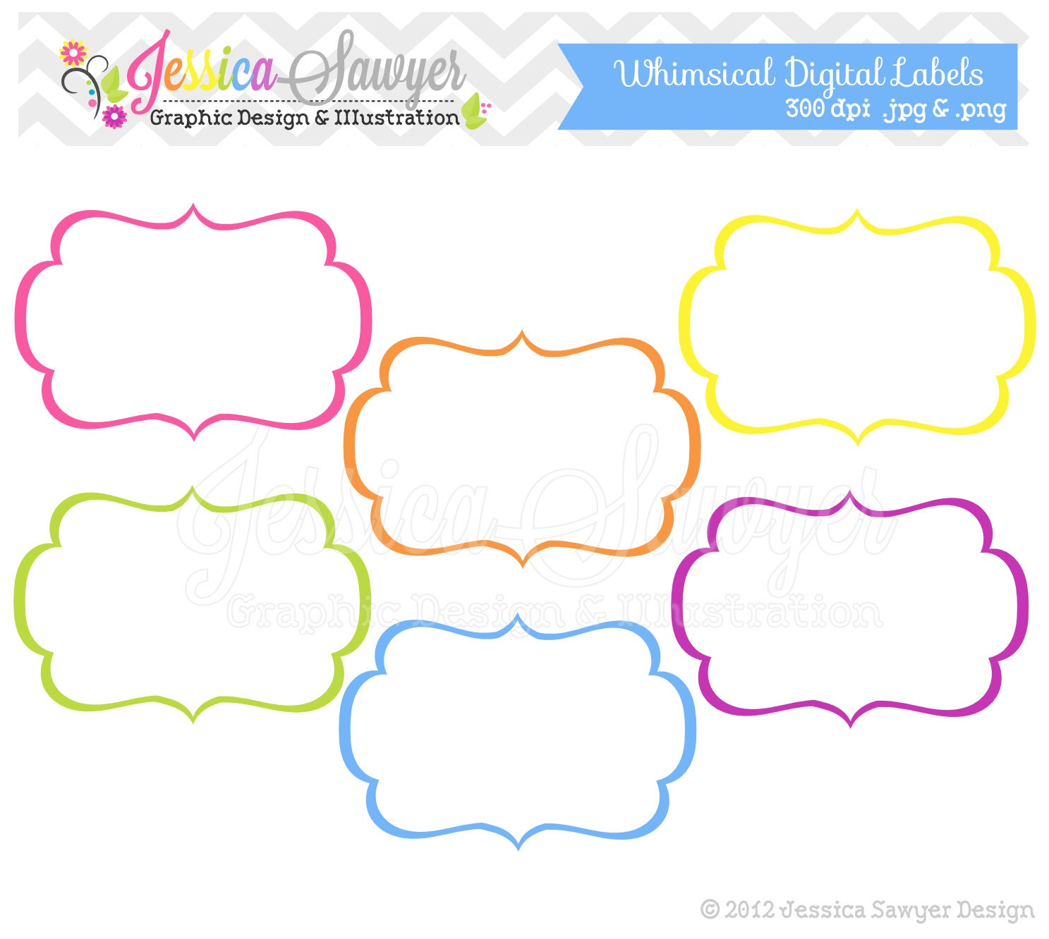 Instant Download Whimsical Labels Tag