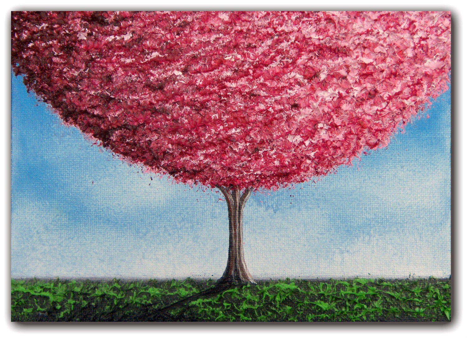 Cherry Blossoms Tree Painting Paintings of Trees Wall Art