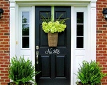 Vinyl House Door or Wall Numbers, front door sticker house number address sticker house identification outdoor vinyl apartment number