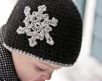 Sparkle Snowflake Hat
