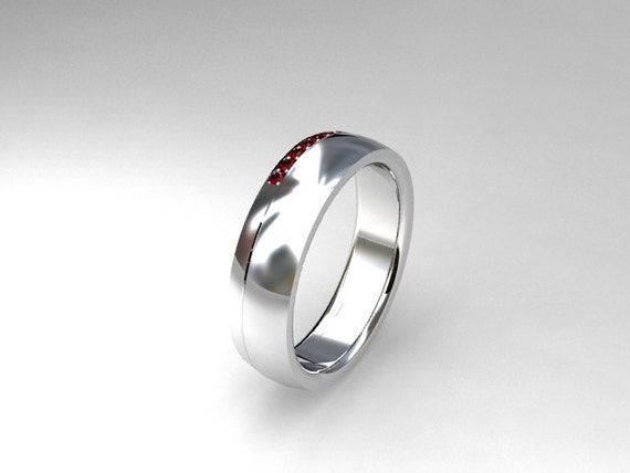 Ruby ring, White gold, wedding band, mens ruby ring, men wedding ring ...
