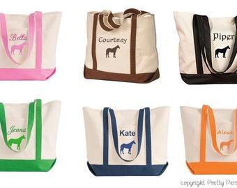 Horse Tote Bag - Equestrian Tote Bag - Riding Bag