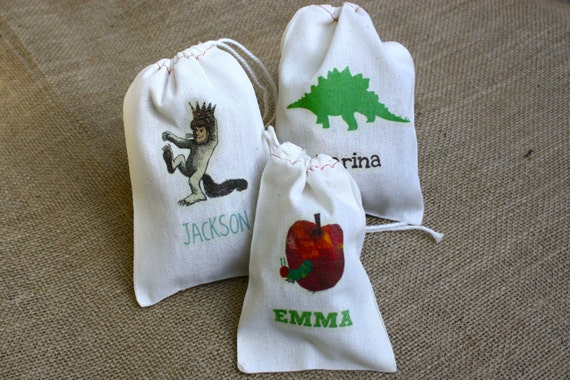 Custom Color Muslin Goodie Bags - Personalized for Your Event