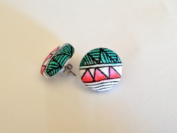Stud Earrings, Boho