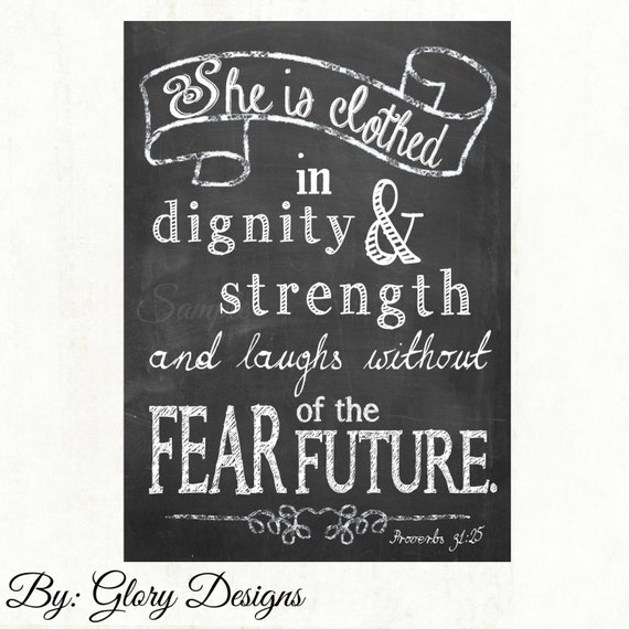 Proverbs 31 25 Quotes: Bible Verse She Is Clothed In Strength And Dignity By
