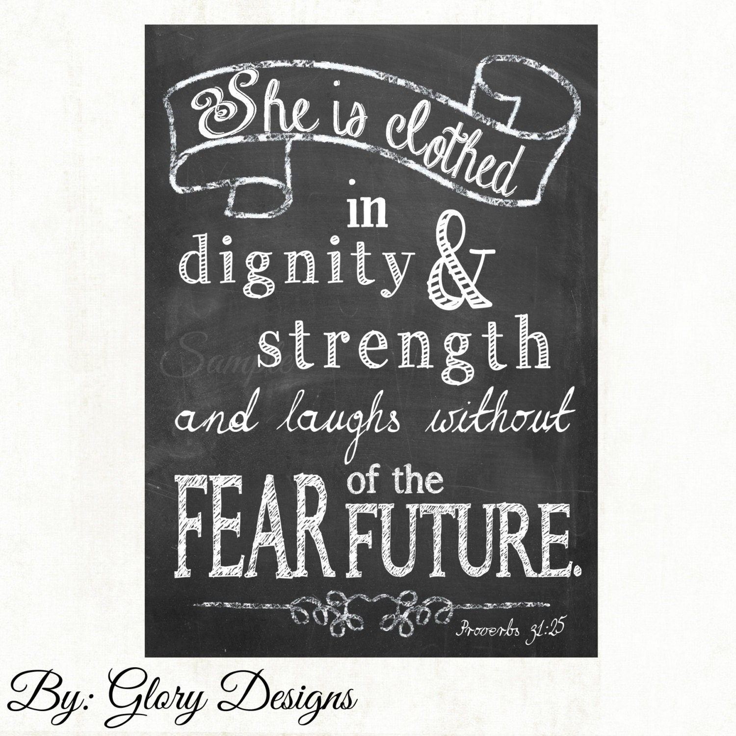 She Is Clothed With Strength And Dignity And She Laughs: Bible Verse She Is Clothed In Strength And Dignity By