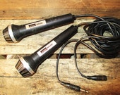 Vintage 1970s Pair of  Microphones by Montgomery Ward Airline