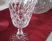 Waterford Marquise, Crystal, Kinsale Pattern, Water Goblet