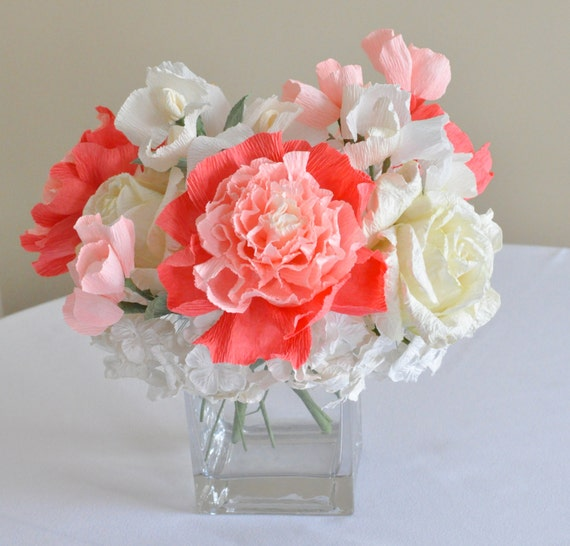 Items similar to wedding trends centerpiece coral