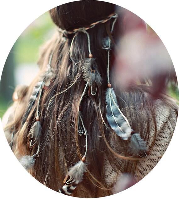 Feather Headband / Headpiece / Headdress Native Style Customizable