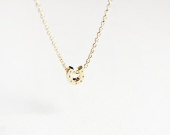 20% OFF tiny gold horseshoe - good luck charm / dainty, delicate, minimalist jewelry - gift for her