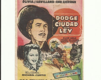 Free shipping-Vintage film flyer - Dodge city