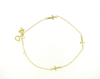 SALE---Multiple Sideway Cross Bracelet