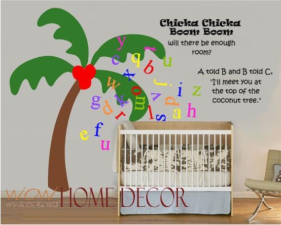 chicka chicka boom boom bedroom decor