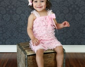 Petti Romper - Lace Romper - Pink Lace Romper - Easter Romper - Baby Romper - Ruffle Romper - Lace Dress - Baby Outfit