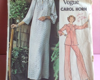 1976 Vogue pattern, no. 2952, dress / robe, tunic & wide leg pants, new uncut, original, 2FOR7, Greece