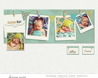 Facebook Timeline Cover - Facebook Timeline PSD Template - Photography, Newborn Photography Facebook - Customize Facebook Page