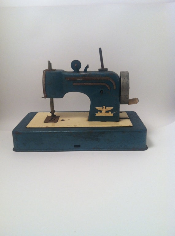 Miniature Tin Sewing Machine Made in W Germany