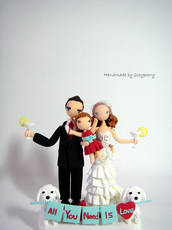 family wedding cake toppers
