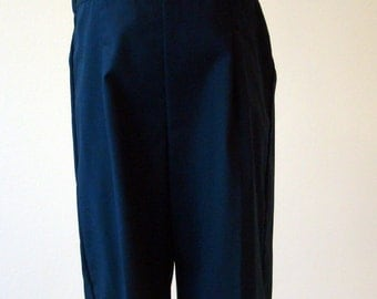 Boys Pant with Suspender Straps in Navy  - size 4T