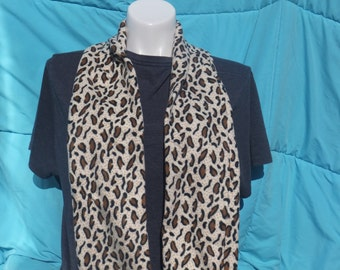 Fleeced Leopard Print Scarf Recently Reduced!